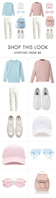 """""""Bluse (Blue X Rose Set)"""" by izabella-todor on Polyvore featuring Lands' End, Diesel, Yves Saint Laurent, Vans, Converse, Forever 21, Ray-Ban, Accessorize, men's fashion and menswear"""