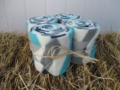 Set of 4 Polo Wraps for Horses Ivory Blue by ChestnutMareCrafts, $22.50