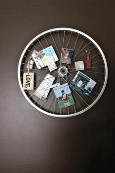 Bike rim photo display