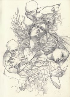 Kai Fine Art is an art website, shows painting and illustration works all over the world. Drawing Sketches, Art Drawings, Pencil Drawings, Pictures To Draw, Art Pictures, Line Art Lesson, Pretty Things, Moonlight Photography, Face Art