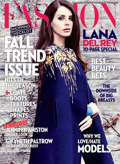 Lana Del Rey for Fashion Magazine Canada September 2014