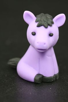 Purple Horse Eraser with Black Mane Series One