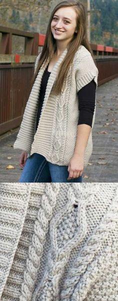 cc26e5237ae59b Paloma Waistcoat Free Knitting Pattern. FREE vest knitting pattern with  interesting cable features at the