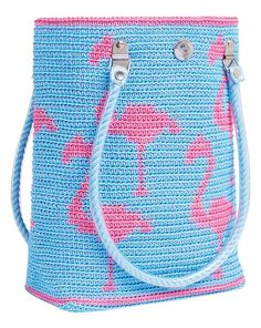Flamingo crocheted bag