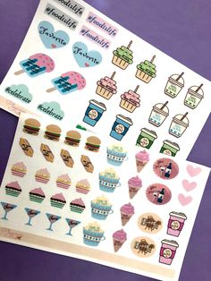Excited to share this item from my #etsy shop: Planner Stickers Food Love - Mini #plannerbeenc  #plannerstickers #stickers #journalstickers #plannercommunity #coffeestickers #bujujournal #bujustickers #journal Food Stickers, Journal Stickers, Planner Stickers, Best Planners, Sticker Paper, Craft Supplies, Bee, Etsy Shop, How To Plan