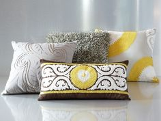 Add colorful Mediterranean touches to your contemporary sofa or bedding ensemble with the plush Petra pillow pack.
