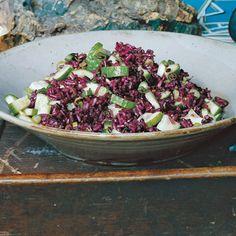 Persian Cucumber and Purple Rice Salad - Looks unusual