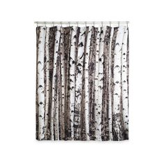 Kikkerland Rustic Beyond the Grove Shower Curtain (31 CAD) ❤ liked on Polyvore featuring home, bed & bath, bath, shower curtains, bathroom, home decor, multi, shower curtain, rustic shower curtains and kikkerland