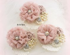 Brooch Boutonnieres Blush Gold Navy Blue Corsages Groom