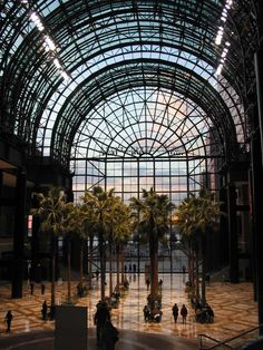 pictures of new york in the winter | The restored Winter Garden and the new palm trees.