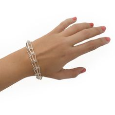 Metropolis Streamline Link Bracelet in Sterling Silver