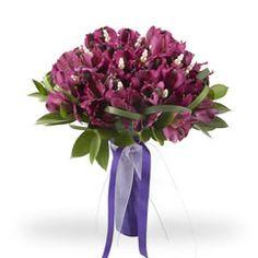 Purple Alstroemerias wedding bouquet... so lovely!