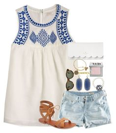 inhale & exhale // emma by preppy-southern-gals on Polyvore featuring polyvore, fashion, style, J.Crew, H&M, Topshop, Kate Spade, Kendra Scott, Alex and Ani, RetroSuperFuture, Urban Decay and clothing