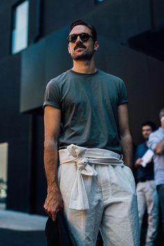 Street looks à la Fashion Week homme printemps-été 2017 de Milan