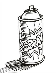 graffiti spray can drawing easy | Character Design ...