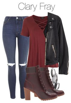 """""""Clary Fray - Shadowhunters"""" by shadyannon ❤ liked on Polyvore featuring Iosselliani, Topshop, Timberland and H&M Girls Fashion Clothes, Teen Fashion Outfits, Emo Fashion, Teenage Outfits, Outfits For Teens, Batman Outfits, Clary Fray Outfit, Cute Casual Outfits, Stylish Outfits"""