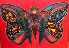 """Jackie Traverse is an Anishinabe from Lake St.Martins First Nations,Manitoba Canada.She is an Artist of paintings,drawings & sculptures that speak of being an Aboriginal Woman. This beautiful piece is called """"Grandmothers Guidance """" Jackie Traverse Art,Winnipeg Manitoba,Canada.Phone#204-869 0239"""