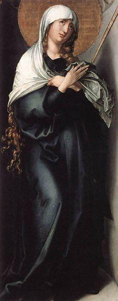 The Seven Sorrows of the Virgin: Mother of Sorrows  c. 1496  DÜRER, Albrecht  Alte Pinakothek, Munich