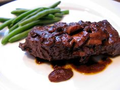 Easy Flat Iron Steak in Wine Sauce