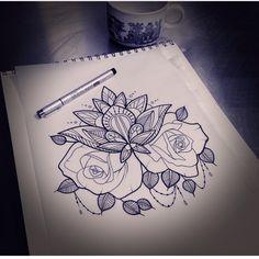 Mandala and roses