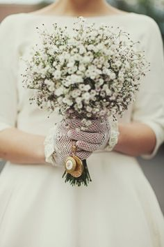 Love the lockets attached to this bouquet and of course the vintage lace gloves, but this is not my vintage lace gloves board.