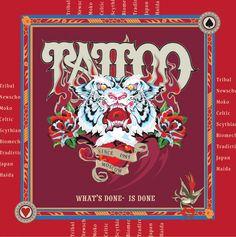 """Платок из серии """"История татуировки"""" 2012 года с кратким пособием по стилям и направлениям 90-х годов. Материал: шелк, атлас 70х70 см, лазерный подшив края."""