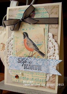 Lovely bird tag card