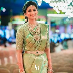 Beautiful South Indian Wedding Wear Idea :- AwesomeLifestyleFashion Different Culture have their own look and style and Kanjivaram and. South Indian Wedding Saree, Indian Bridal Sarees, Indian Wedding Wear, Indian Bridal Outfits, Indian Bridal Fashion, Saree Wedding, Wedding Bride, Tamil Wedding, Indian Weddings