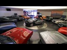 A muscle car must have a muscle garage!  This is incredible...