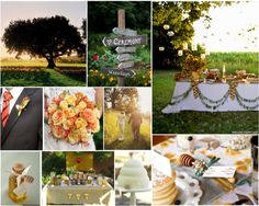 This Winnie The Pooh Inspired Wedding In Complete With Honey Favors Tigger Ties And A General Hundred Acre Feel Too Cute