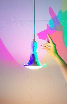 CMYK Lightbulb That Casts Colored Shadows - DesignTAXI.com
