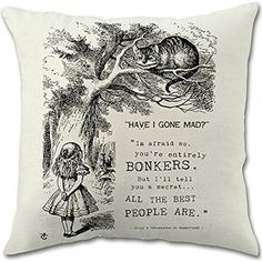 """Alice in Wonderland Pillow Covers (18""""x18"""" One Side Printed)"""