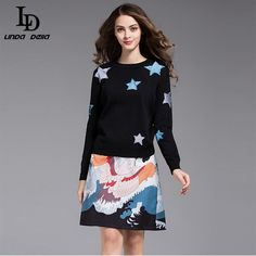 Summer Style Women's Flare Sleeve Slim Printed Jacquard Appliques Sheath Dress Like and Share if you want this www.storeglum.com... #shop #beauty #Woman's fashion #Products