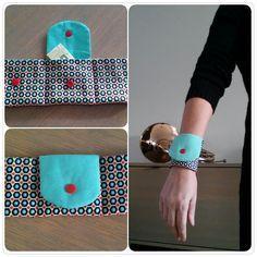Geldbeutel für das Handgelenk, Puls Geldbörse - Just Made by Mie: Polsportemonnee