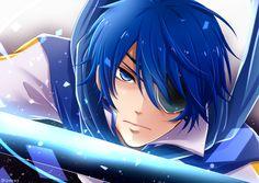 Creds @ とろ on Pixiv   KAITO Vocaloid Kaito, Kaito Shion, Blue Hair Anime Boy, Manga Boy, Anime Boys, Kaai Yuki, Mikuo, Bishounen, Kawaii Art