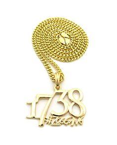 Glänzend Hip Hop 1738 Zoo Gang Rap Anhänger mit 61 cm Kette Halskette in Goldton - 4mm Kubanische Kette - http://schmuckhaus.online/nyfashion101/4-mm-61-cm-kubanische-kette-goldton-glaenzend-hip