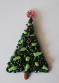 Christmas Tree Fused Glass