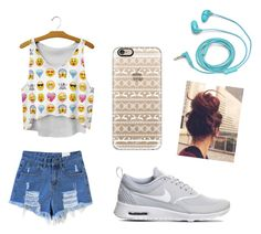 """""""Untitled #4"""" by tira-bianca on Polyvore featuring NIKE, Casetify and FOSSIL"""