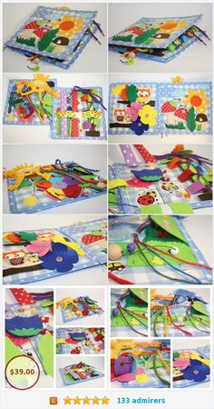 Items similar to felt quiet book toddler soft book textile book sensory book children quiet book learning book play mat book personalized book montessori toy on Etsy Book Play, Sensory Book, Felt Quiet Books, Busy Board, Preschool Learning Activities, Personalized Books, Montessori Toys, Textiles, Autumn