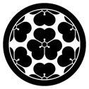 長宗我部氏の家紋「丸に七つ酢漿草(かたばみ) 」