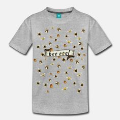 Bee cool, boy Teenager Premium T-Shirt Teenager, Bee, Cool Stuff, Prints, Mens Tops, Design, Cool Things, Bees, Design Comics