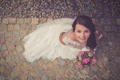 Pink paeonia bridal bouquet by Klára Uhlířová Brno.