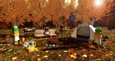 https://flic.kr/p/MhW6oA | Autumn camp and pumpkin decor | Chez Moi Furniture @ Chapter four / Hunt / GG (Free)  Swarm of decor 3 hunt  Credit ovhorrizon.blogspot.com/2016/10/autumn-camp-and-pumpkin-d...