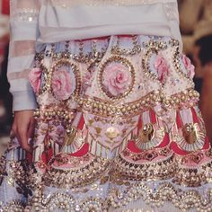 The exquisite beadwork and embellishments on this Manish Arora skirt http://www.londonfittingrooms.com/le-boudoir/fashion-trends/winter-fashion-trends-bead-embellishments