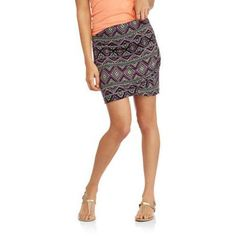 Eye Candy Juniors' Overlapped Mini Skirt With Side Shirring, Size: Medium, Multicolor