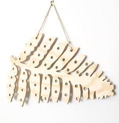 Wooden Pegboard, Shaped Pegboard, Fern Pegboard, Tree Pegboard, Peg Board, Wooden Peg Board, Market Display, Interior Design