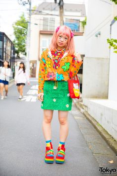 Sasakure on the street in Harajuku wearing a... | Tokyo Fashion
