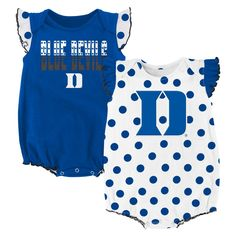 e8f0ca72a Duke Dotty Duo. Raiders Baby ClothesIrish Baby Girl NamesDuke Blue DevilsToddler  ...
