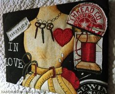 HandmaidsEntryK - my try at postcards Favorite Pastime, Im In Love, Challenges, Valentines, Joy, Quilts, My Favorite Things, Sewing Ideas, Postcards