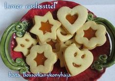 Linzer rizsliszttel (Gluténmentes) Sin Gluten, Gluten Free Sweets, Lactose Free, Cake Cookies, Sugar Free, Deserts, Food And Drink, Vegan, Healthy